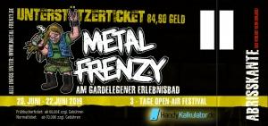 Unterstützer-Ticket Metal Frenzy Open Air 2019